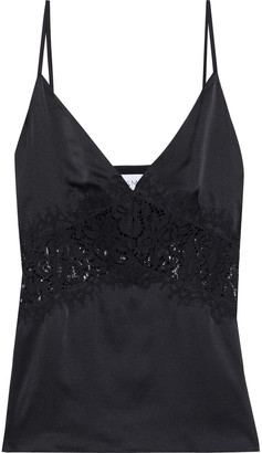 CAMI NYC The Tai Corded Lace-paneled Silk-satin Camisole