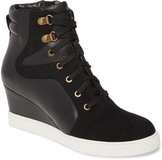 Linea Paolo Fleur Wedge Sneaker