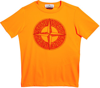 Stone Island Boy's Compass Screen-Print Logo T-Shirt, Size 10-12