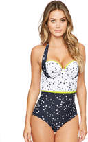 Figleaves Lucky Star Underwired Halter Tummy Control Swimsuit
