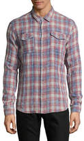 John Varvatos Star U.S.A. Plaid-Weave Snap-Front Western Shirt