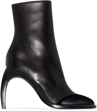 Ann Demeulemeester 70mm Open Side Toe Boots