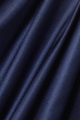 Naeem Khan Draped Silk-satin Gown