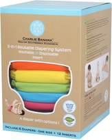 Charlie Banana 889440 Large Tutti Frutti Diaper (Set of 6) - 12 Inserts