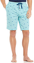 Tommy Bahama Woven Check Marlin-Print Pajama Shorts