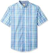 Haggar Men's Big and Tall Long Sleeve Peached Poplin Woven Shirt
