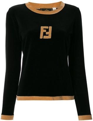 Fendi Pre-Owned Logos Long Sleeve Tops
