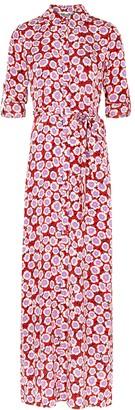 Diane von Furstenberg Amina floral-print silk shirt dress