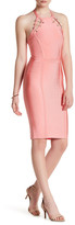 Wow Couture Sleeveless Halter Pin Dress