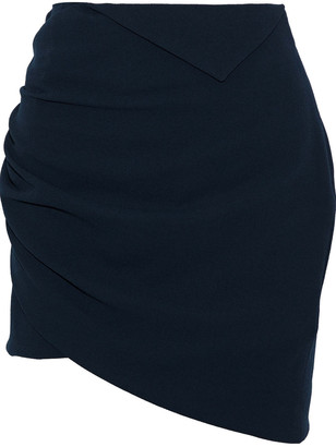 IRO Dorio Wrap-effect Crepe Mini Skirt