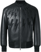 Neil Barrett lightning bolt bomber jacket - men - Cotton/Polyamide/Polyester/Viscose - L
