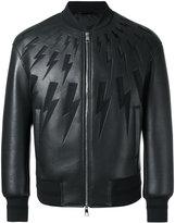 Neil Barrett lightning bolt bomber jacket - men - Cotton/Polyamide/Polyester/Viscose - S