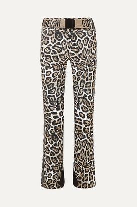 Goldbergh Roar Belted Faux Leather-trimmed Leopard-print Ski Pants - Leopard print