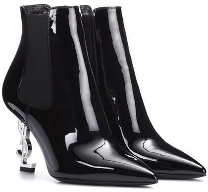 Saint Laurent Opyum 85 patent leather ankle boots