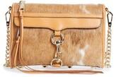 Rebecca Minkoff Mini MAC Genuine Calf Hair Convertible Crossbody Bag - Brown