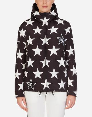 Dolce & Gabbana Millennials Star Print Short Winter Coat