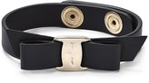 Salvatore Ferragamo Leather Vara Single Wrap Bracelet