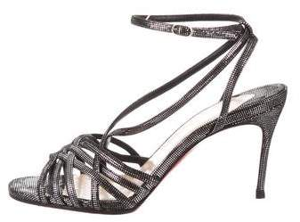 Christian Louboutin Metallic Multistrap Sandals