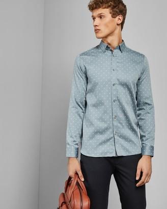 Ted Baker Diamond Print Cotton Shirt