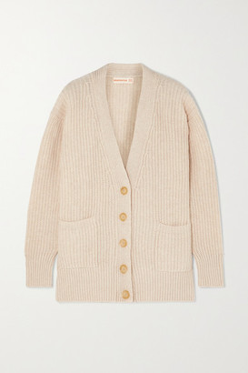 &Daughter Kira Ribbed Wool Cardigan - Cream