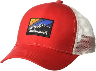 NHL Avalanche Men's Mesh Trucker Hat with a Woven Label Front
