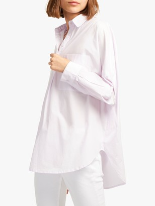 French Connection Laselle Over Shirt, Lavender Frost
