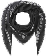 Alexander McQueen Printed Wool Scarf with Silk
