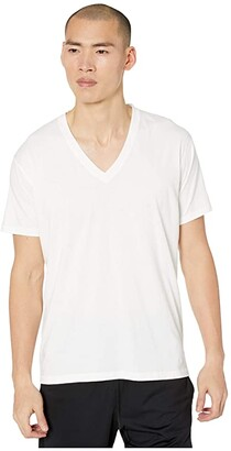 tasc Performance Bam(Bare) Deep V-Neck Undershirt (White) Men's Clothing