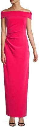 Vince Camuto Off the Shoulder Side Tuck Gown