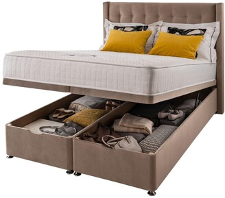 Silentnight Isla Velvet 1000 Memory Ottoman StorageDouble Divan Bed