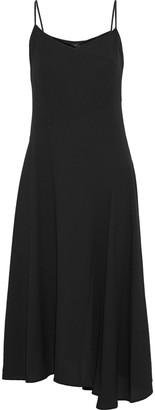 Theory Asymmetric Crepe Midi Slip Dress
