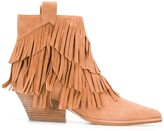 Thumbnail for your product : Sergio Rossi Carla fringed ankle boots