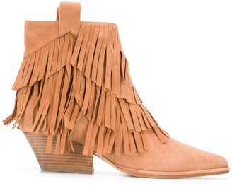 Sergio Rossi Carla fringed ankle boots