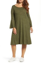 Three Dots Plus Size Women's Nepps Bell Sleeve Dress
