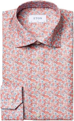 Eton Men's Allover Floral Slim-Fit Dress Shirt