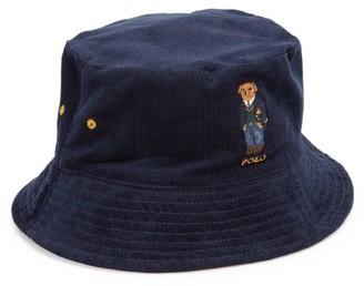 Polo Ralph Lauren St. Andrew Kicker Bear Reversible Bucket Hat