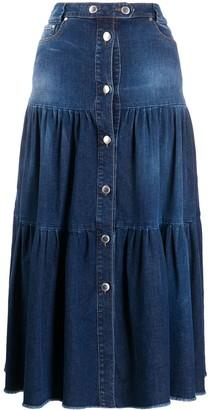 RED Valentino Tiered Midi Skirt