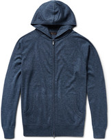 Loro Piana Portland Silk And Cashmere-blend Zip-up Hoodie - Storm blue