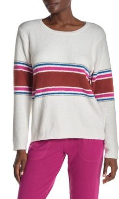 PJ Salvage Peachy Stripe Print Long Sleeve Top