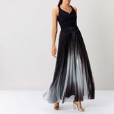 Coast Roma Metallic Pleated Dress
