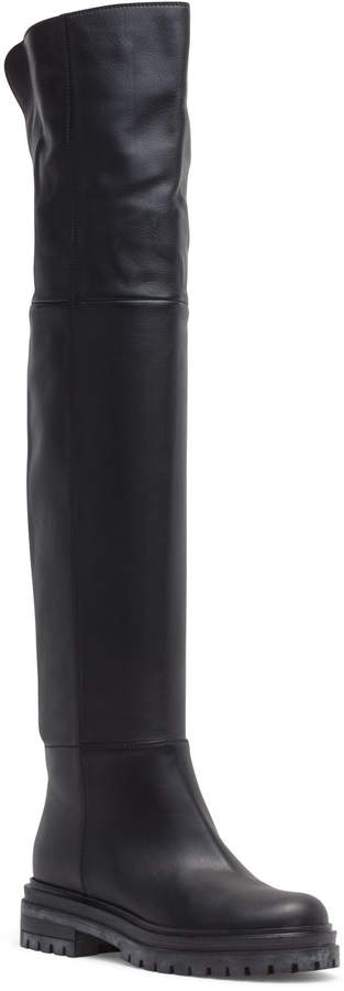 Gianvito Rossi 20 Black Over Knee Boots