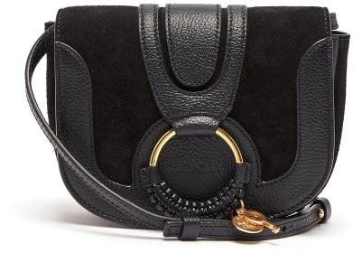 Hana Womens Cross Black Bag And Suede Body Mini Leather qj4R35AL
