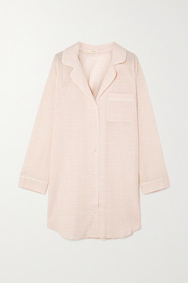Eberjey Nautico Striped Cotton-blend Voile Pajama Shirt - Blush