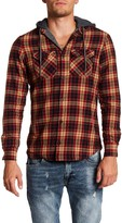 Globe Alford Contrast Hooded Plaid Standard Fit Shirt
