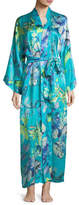 Christine Designs Capri Floral-Print Long Robe