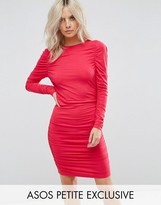 Asos Ruched Mini Bodycon Dress with Long Sleeve