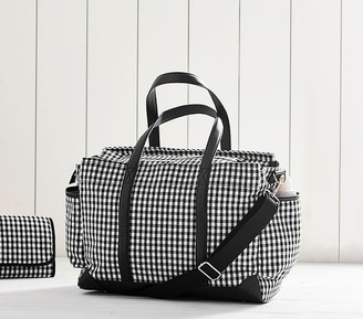 Pottery Barn Kids Gingham Classic Diaper Bag