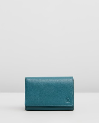 Stitch & Hide - Women's Blue Bifold - Ellie Wallet - Size One Size at The Iconic