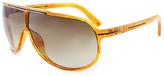 Calvin Klein Amber & Brown Gradient Shield Sunglasses - Unisex
