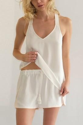 Negative Underwear Supreme Sleep Short in White + Peach